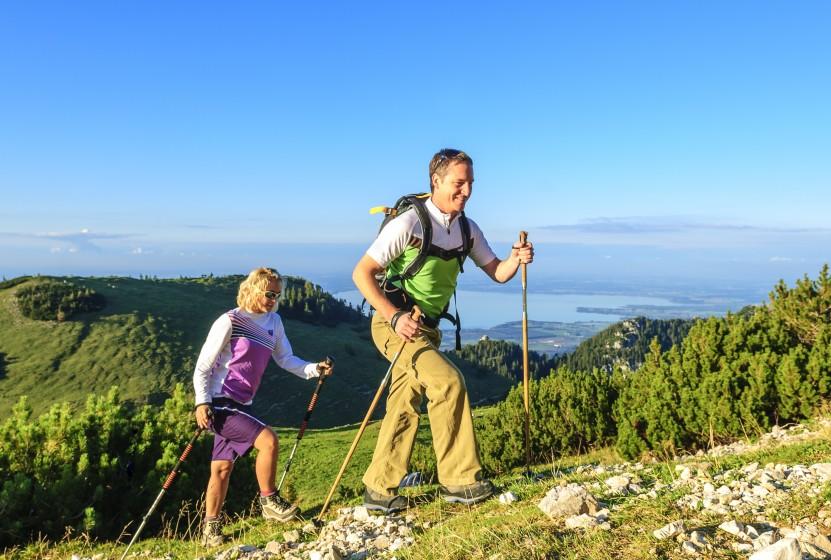 Hiking in den bayrischen Bergen