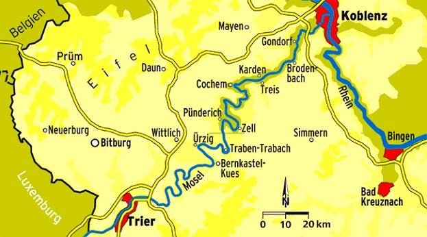 Von Koblenz nach Trier können Sie wunderbar mit dem Kanu fahren