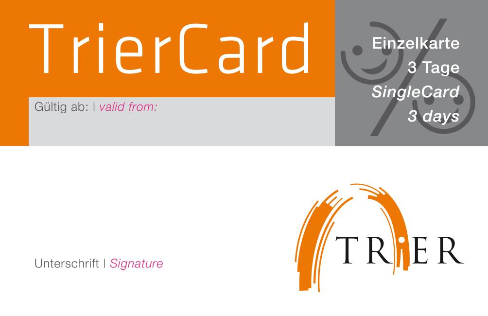 Die TrierCard, mit der Sie zahlreiche Vergünstigungen erhalten