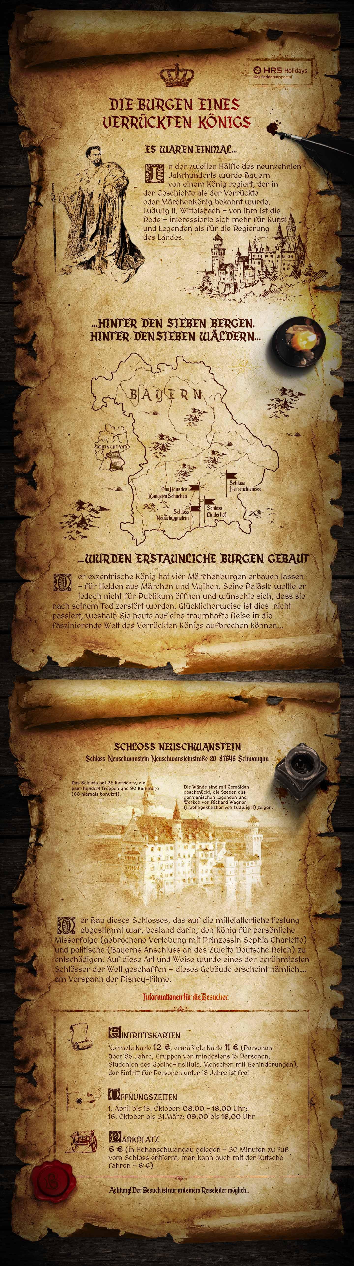 Bauwerke von König Ludwig II