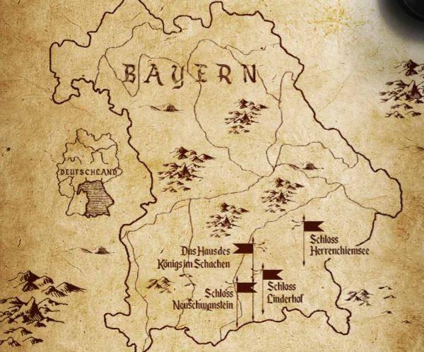 Infografik: Auf den Spuren des bayerischen Märchenkönigs – Eine Tour zu den verschiedenen Bauwerken